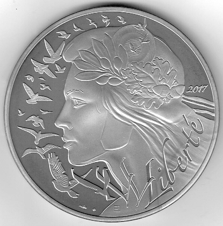 100 euro argent marianne 2017 aa 1