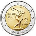 2 euros commemorative 2004 grece