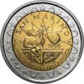 2 euros commemorative 2005 san marino