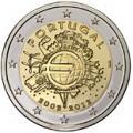 2 euros commemorative 2012 portugal 10 ans de l euro