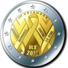 2 euros commemorative 2014 france sida