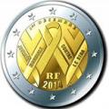 2 euros commemorative 2014 france sida