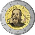 2 euros commemorative 2014 italie galileo