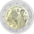 2 euros commemorative 2015 italie alighieri dante