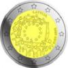 2 euros commemorative 2015 lettonie drapeau europeen