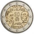 2 euros commemorative france 2013 traite de l elysee