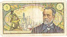 220px verso billet de cinq francs francais 1967
