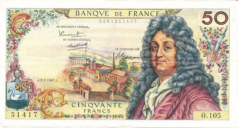 800px recto d un billet de 50 francs de 1967