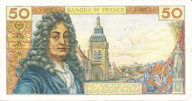 800px verso d un billet de 50 francs de 1967