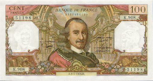 France 100 francs 1976 a