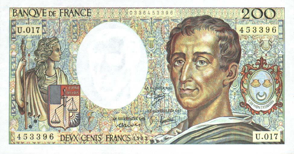 France 200 francs 1983 a
